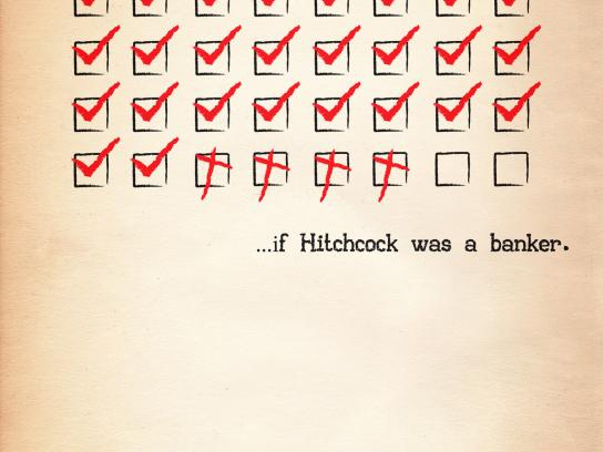 Barclays Print Ad -  Hitchcock