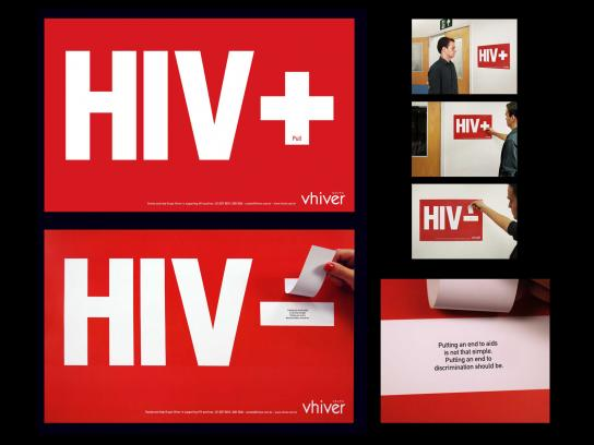 Grupo Vhiver Outdoor Ad -  HIV+