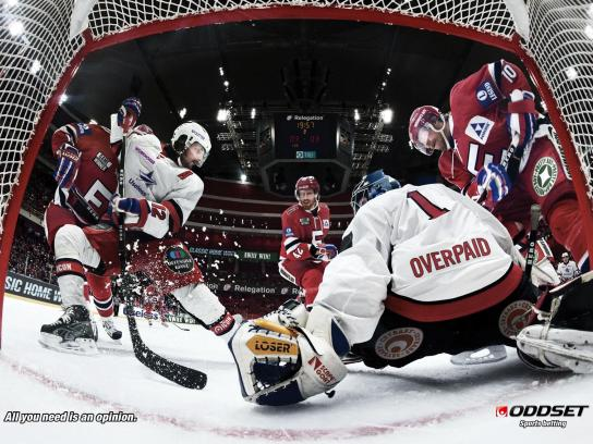 Oddset Print Ad -  All You Need Is an Opinion, Hockey