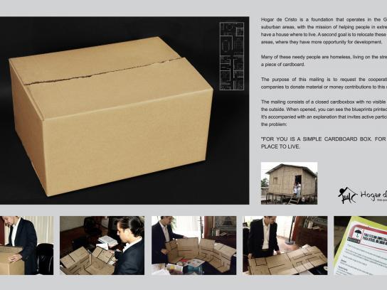 Hogar de Cristo Direct Ad -  Box