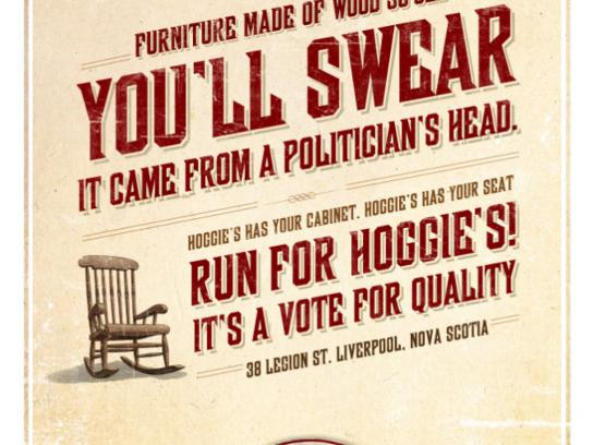 Hoggie's Print Ad -  Politician