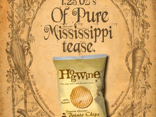 HogWine Potato Chips Print Ad -  Tease