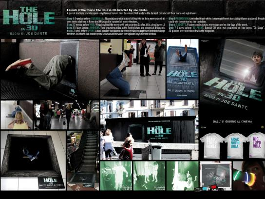 The Hole Ambient Ad -  The launch of the movie
