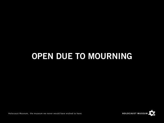 Holocaust Museum Print Ad -  Duelo