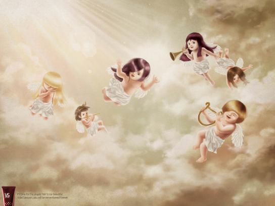 Vidal Sassoon Print Ad -  Angel's Hair