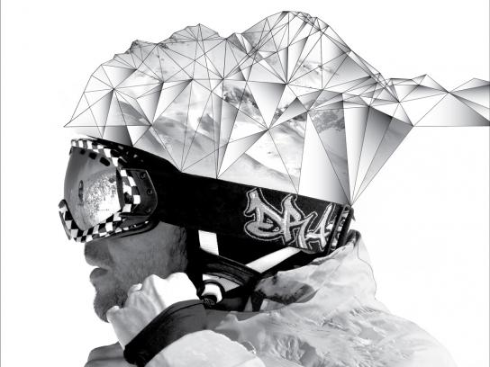 Las Leñas ski resort Print Ad -  Dreams, Man