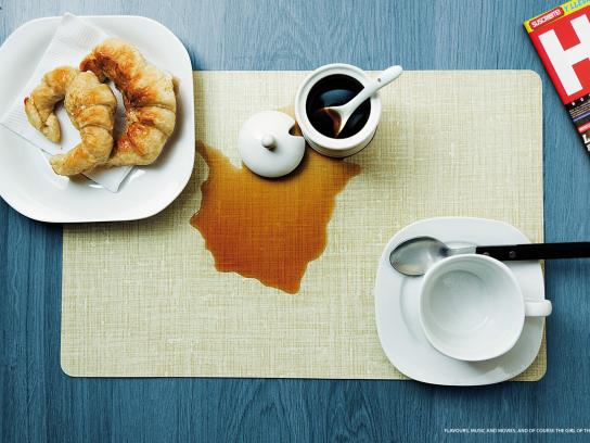 Hombre Print Ad -  Coffee