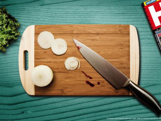 Hombre Print Ad -  Knife