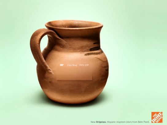 The Home Depot Print Ad -  Clay mug