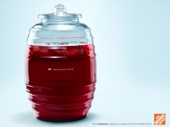 The Home Depot Print Ad -  Hibiscus punch