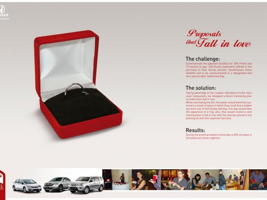 Honda Direct Ad -  Proposals that fall in love