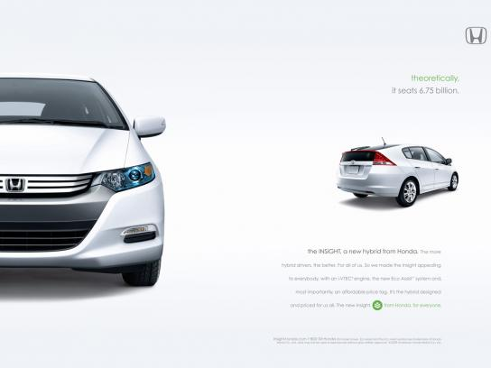 Honda Print Ad -  Theoretically