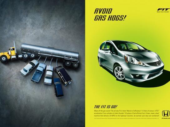 Honda Print Ad -  Gas hogs