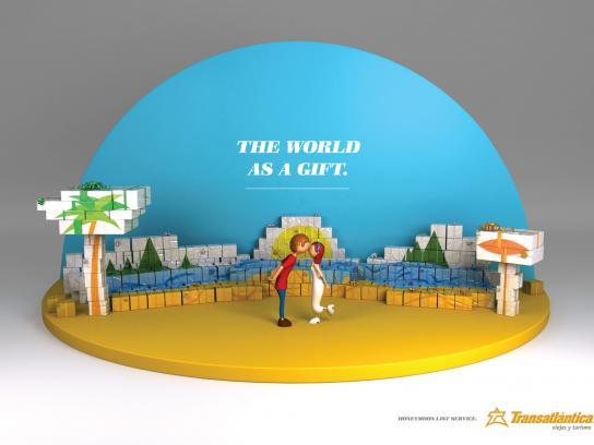 Transatlantica Print Ad -  The world as a gift
