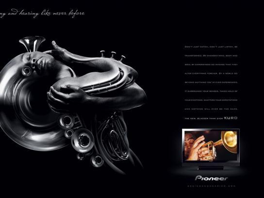 Pioneer Print Ad -  Horn
