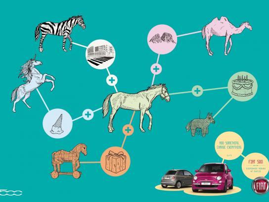 Fiat Print Ad -  Horse