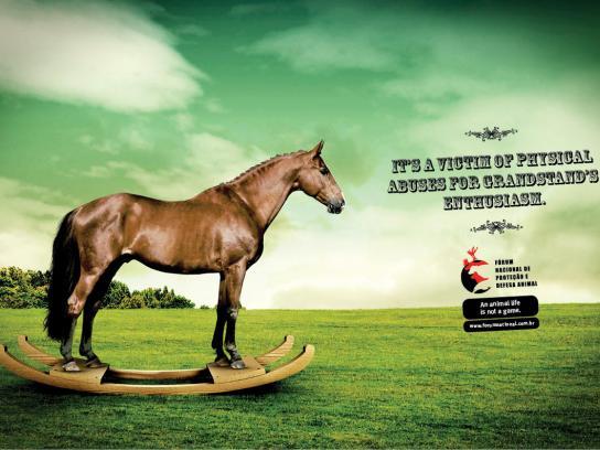 Fórum de Proteção e Defesa Animal: Horse Print Ad -  Horse