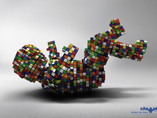 Hospital São Luiz Print Ad -  Rubik's Cube, 2
