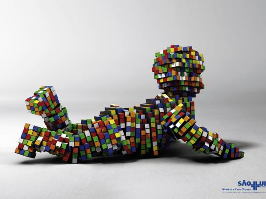 Hospital São Luiz Print Ad -  Rubik's Cube, 3