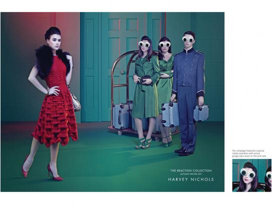Harvey Nichols Print Ad -  Hotel Entrance Googly Eyes