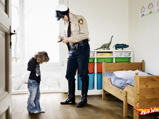 Hot Wheels Print Ad -  Police Raid, Ticket