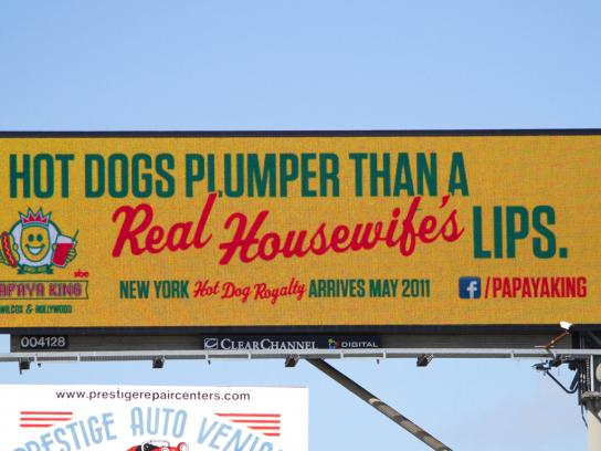 Papaya King Outdoor Ad -  Housewife