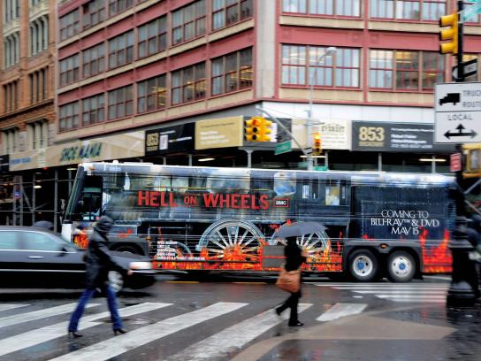 Hell on Wheels Outdoor Ad -  Bus