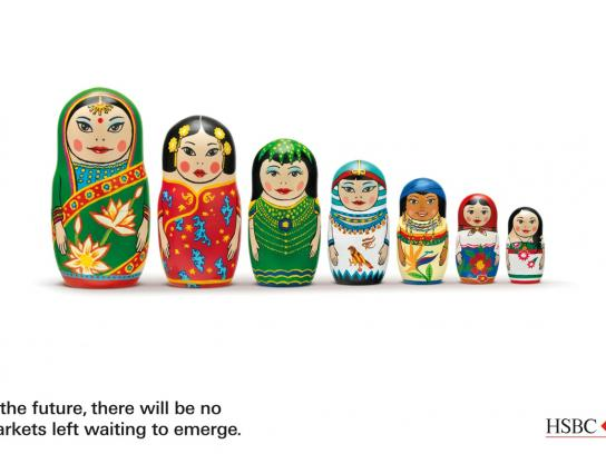 HSBC Print Ad -  Dolls