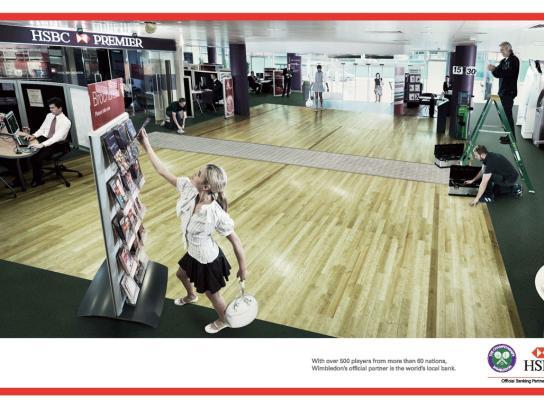 HSBC Print Ad -  Wimbledon