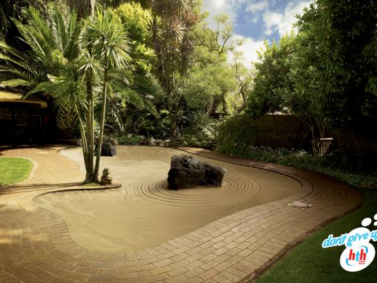 HTH pool care Print Ad -  Zen Garden