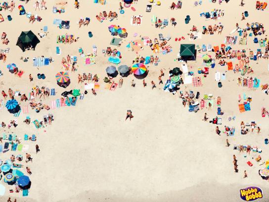 Hubba Bubba Print Ad -  Beach