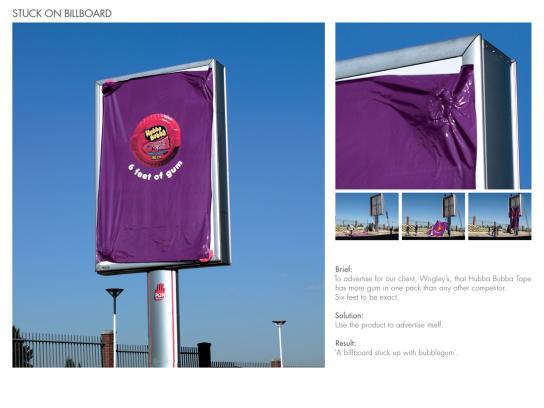 Hubba Bubba Ambient Ad -  Stuck on billboard