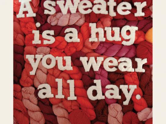 The Knit Cafe Print Ad -  Hug