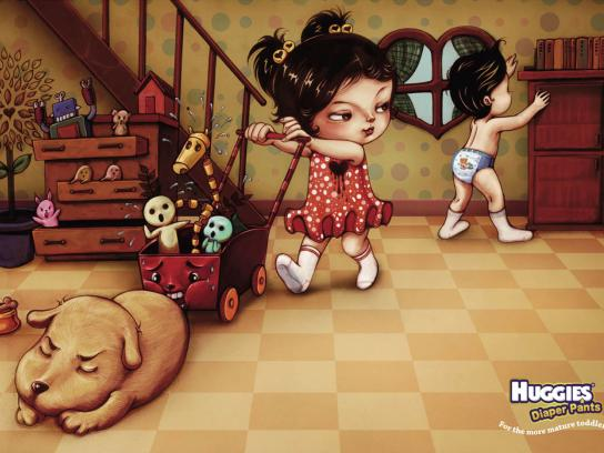 Huggies Print Ad -  For the more mature toddler, 1