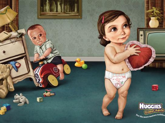 Huggies Print Ad -  For the more mature toddler, 2