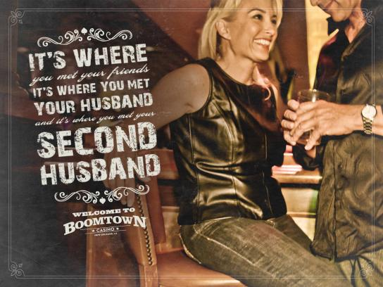 Boomtown Casino Print Ad -  Second Husband
