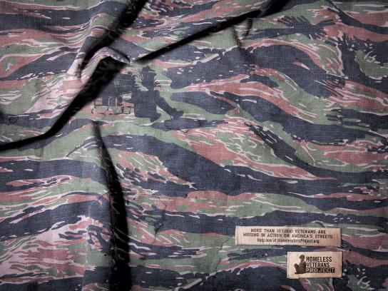 Homeless Veterans Project Print Ad -  Camo, Plain