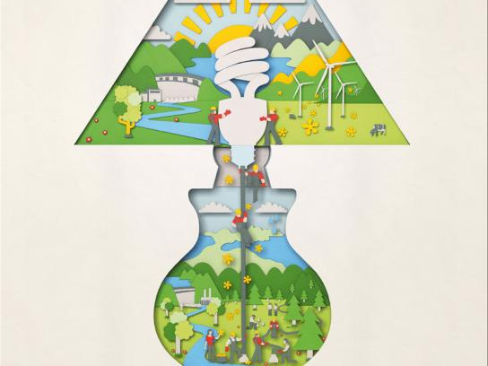 Hydro Tasmania Print Ad -  Lamp