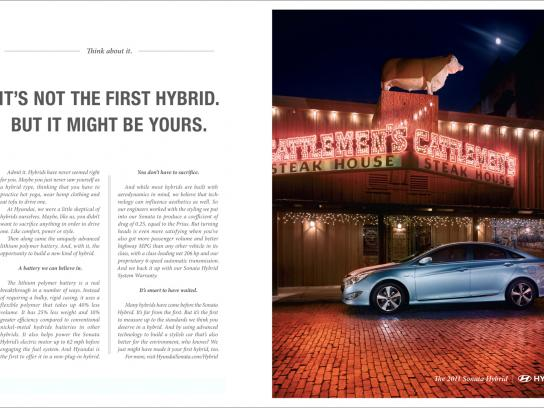 Hyundai Print Ad -  Steakhouse
