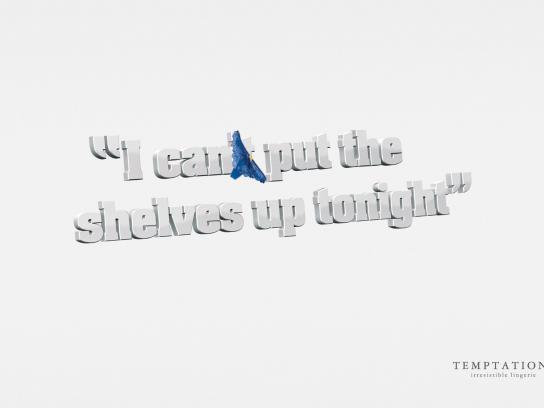 Temptations Print Ad -  Shelves