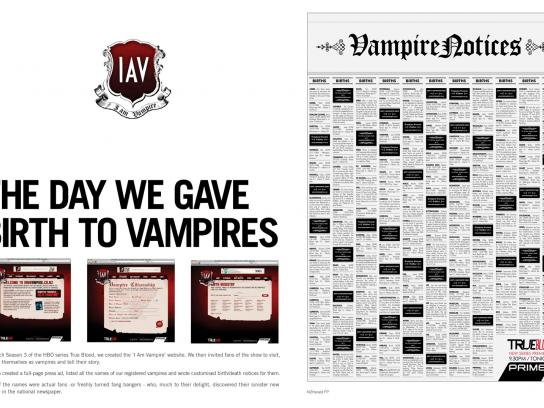 Prime TV Ambient Ad -  I am a Vampire