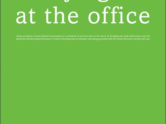 iaTS Print Ad -  Donating Green, Office