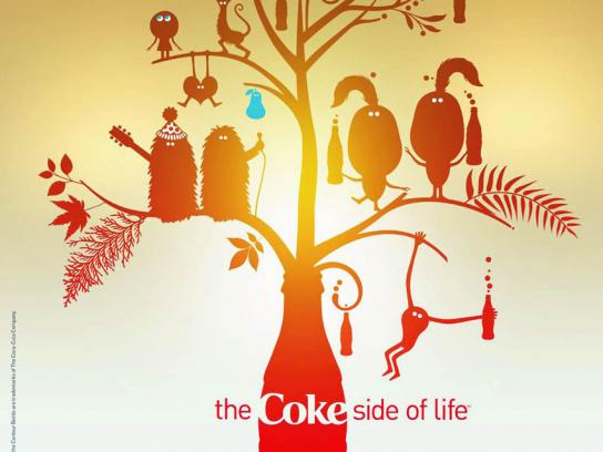 Coca-Cola Print Ad -  Coke side of life, 1