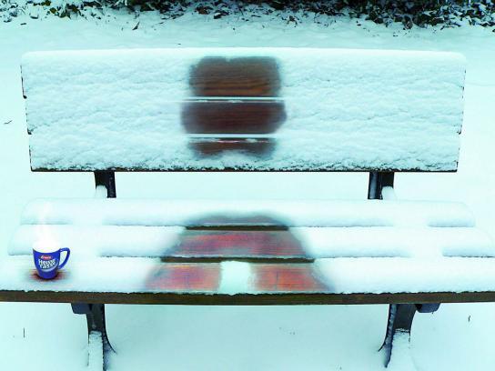 Erasco Print Ad -  Park Bench
