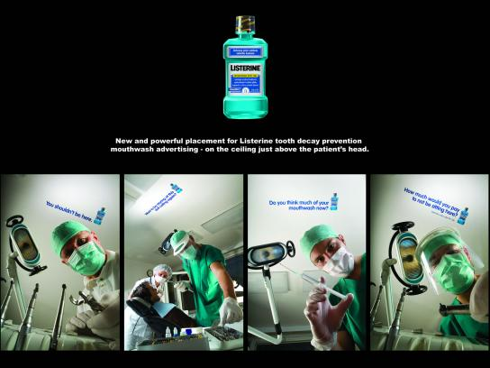 Listerine Ambient Ad -  Ceiling stickers