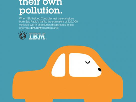 IBM Print Ad -  Outcomes car