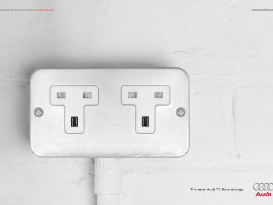 Audi Print Ad -  Power socket