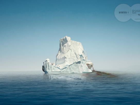 Surfrider Foundation Print Ad -  Iceberg