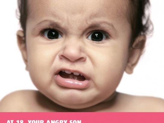 IDBI Federal Print Ad -  Angry baby, 2