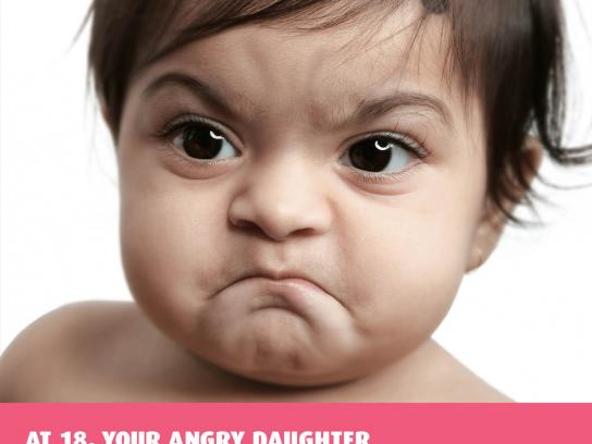 IDBI Federal Print Ad -  Angry baby, 3